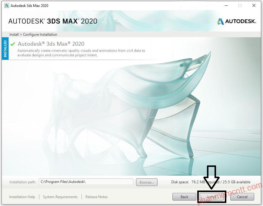 huong dan cai dat autodesk 3ds max 2020 vray 4.2 anh 8
