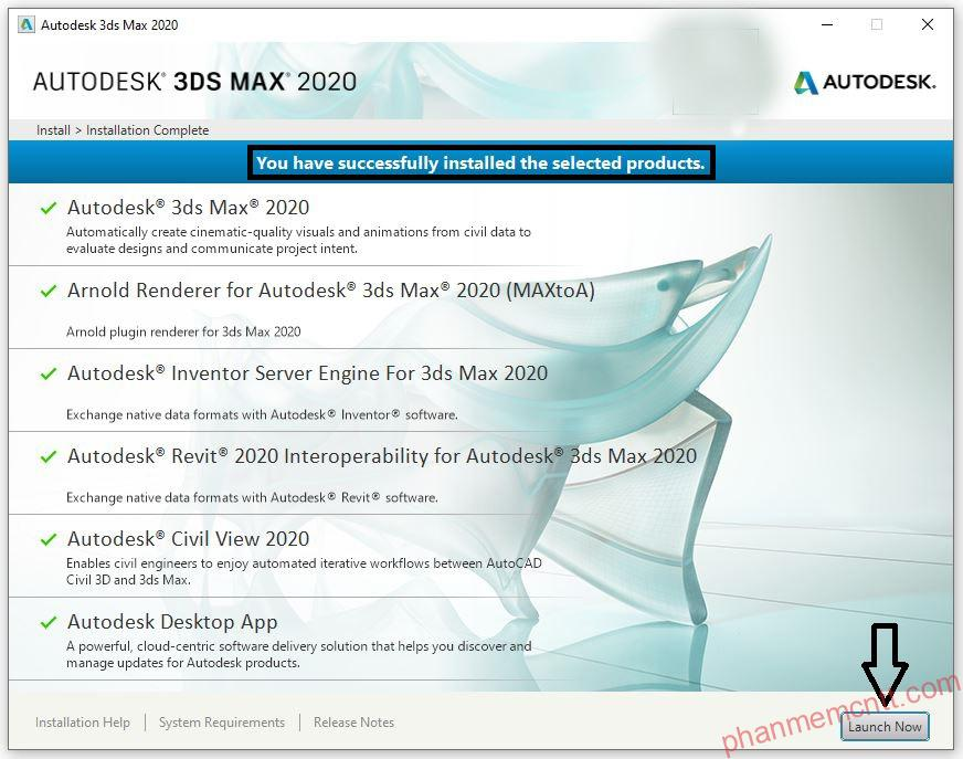 huong dan cai dat autodesk 3ds max 2020 vray 4.2 anh 9