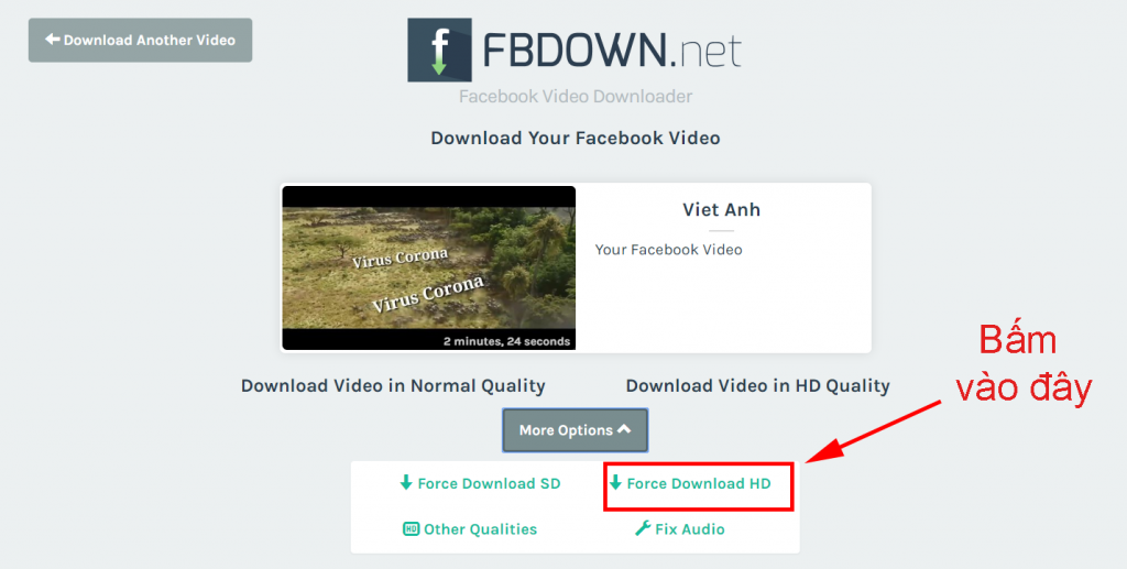 huong dan download video full hd tu facebook online anh 6