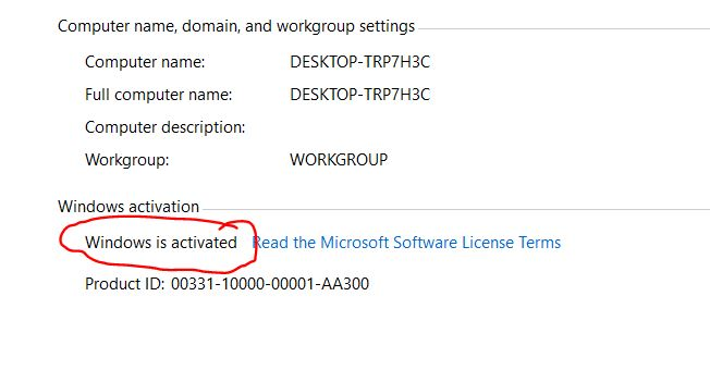 activate win 10