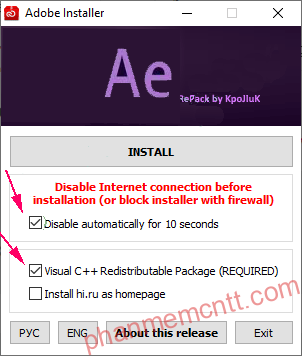 install adobe media encoder