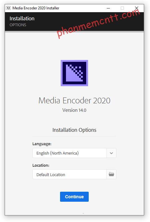 huong dan cai dat adobe media encoder cc 2020