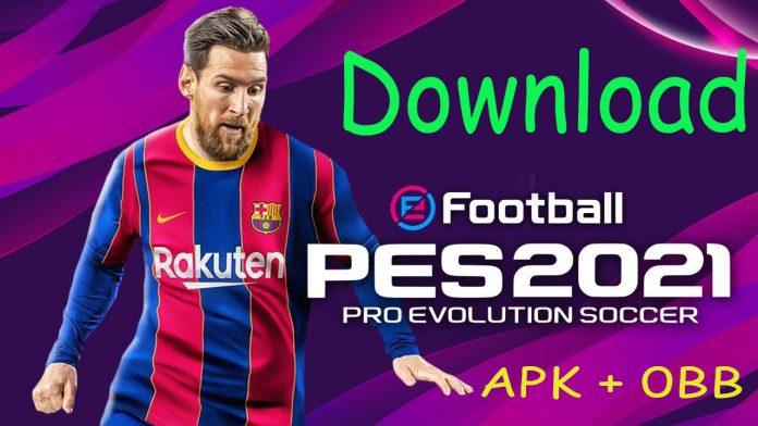 download pes 2021 mobile apk obb