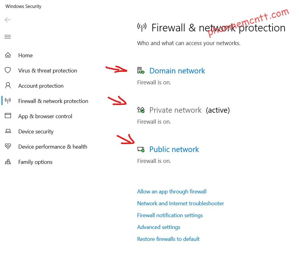 tun off windows defender firewall windows 10 2