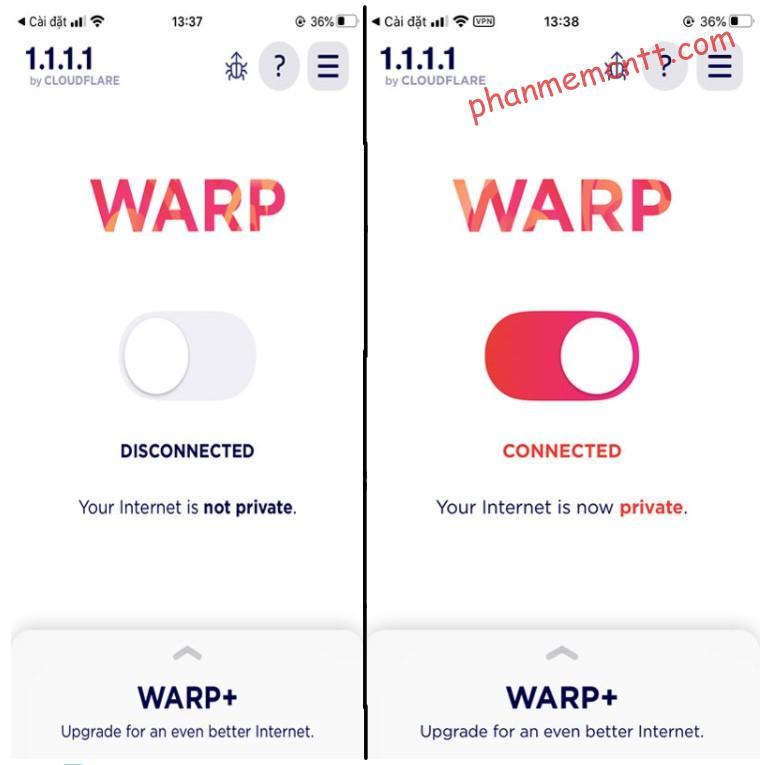 use warp 1.1.1.1 change region internet