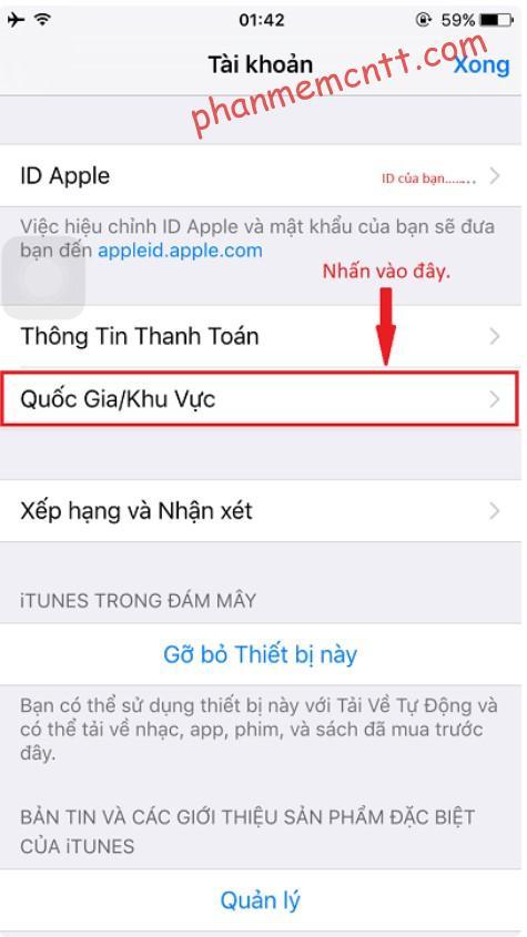 huong dan chuyen vung appstore sang trung quoc