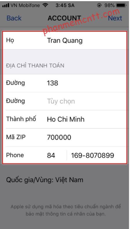 huong dan chuyen vung appstore ve viet nam